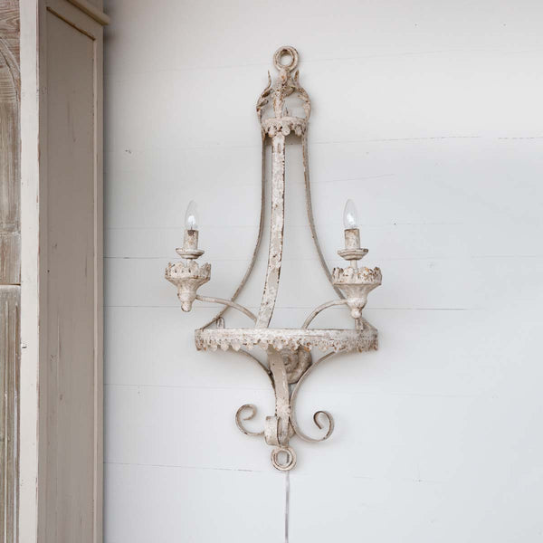 Vintage French Electric Wall Sconce Set of 2