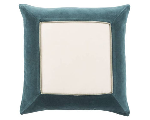 "JL Jade & Cream 22"" Decor Pillow"