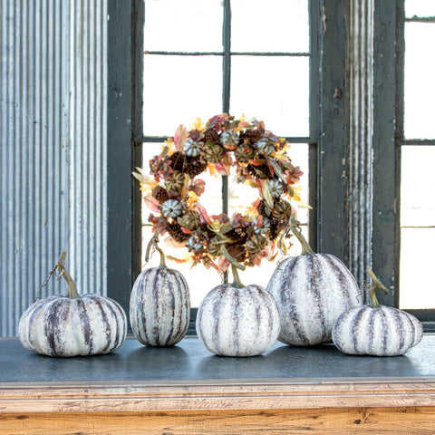 Farmhouse Pumpkins Set of 5