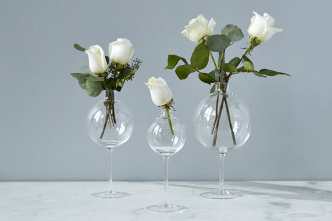 Clear Wine Glass Vase Medium