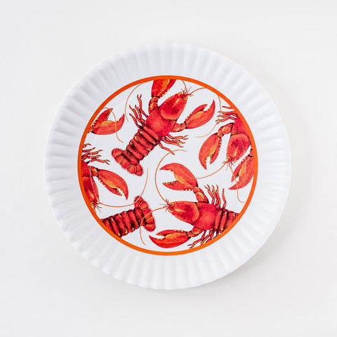 Crawfish Melamine Serving Plate