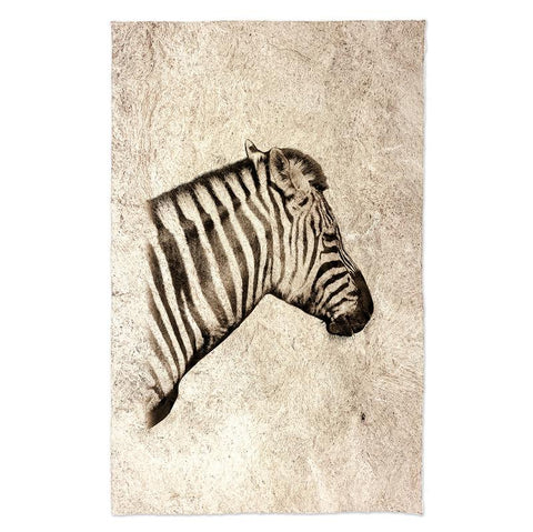 Zebra on  Kozo - Amate Paper Print