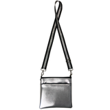 Double Zipper Neoprene Messenger with Strap
