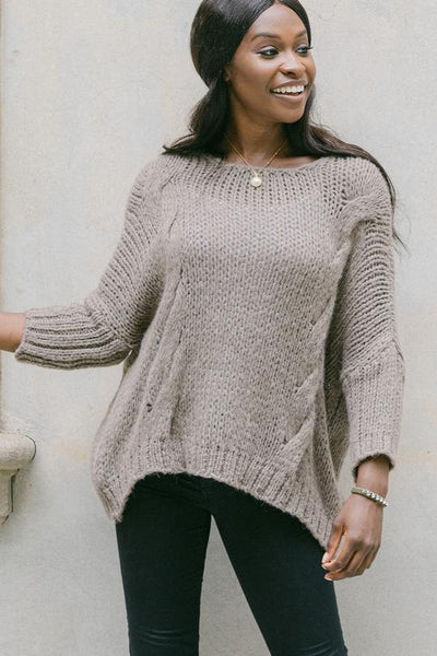Nadine Pullover Cable Knit