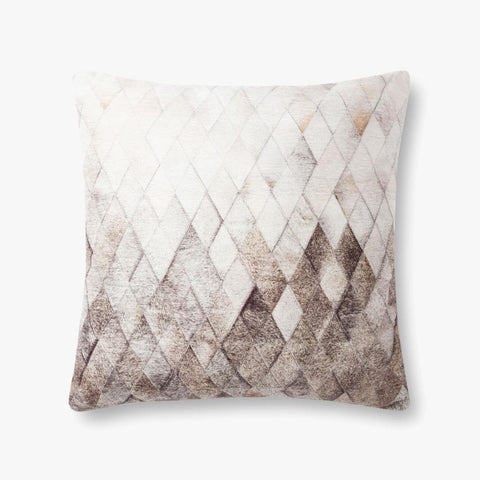 "Criss Cross Faux Hide 22"" Down Pillow"