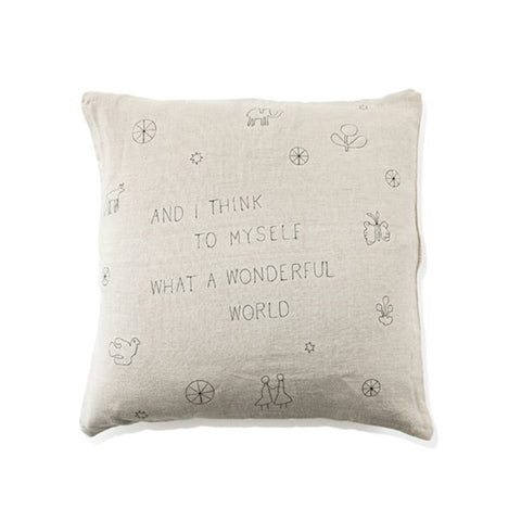 """What A Wonderful World"" 24x24 Pillow"