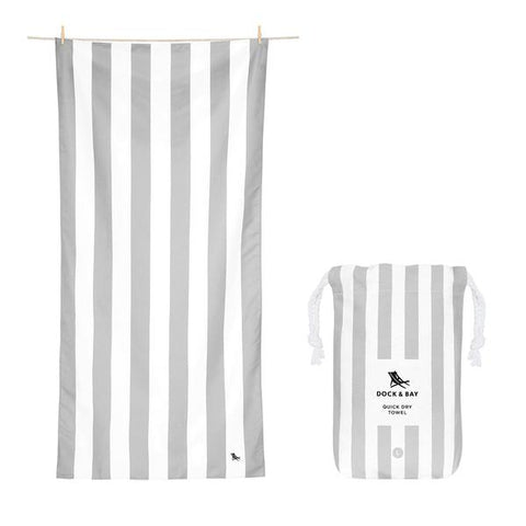 Dock XL Stripe Beach Towel Goa Grey
