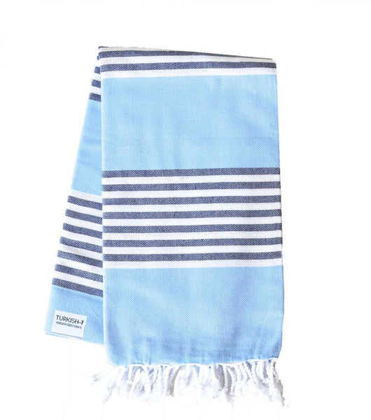 Turkish ALYS Blue Stripe Towel