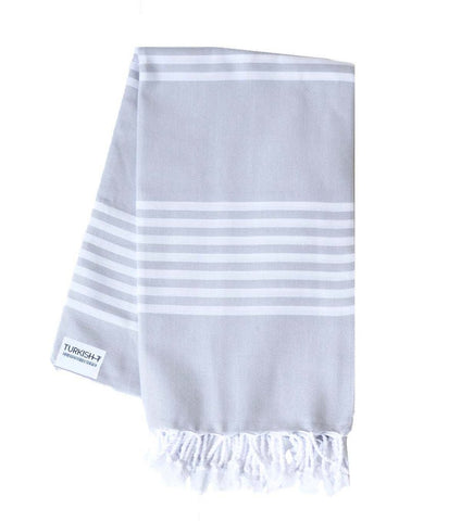 Turkish ALYS Grey Stripe Towel