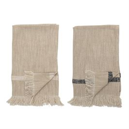 Woven Natural Towel S/2