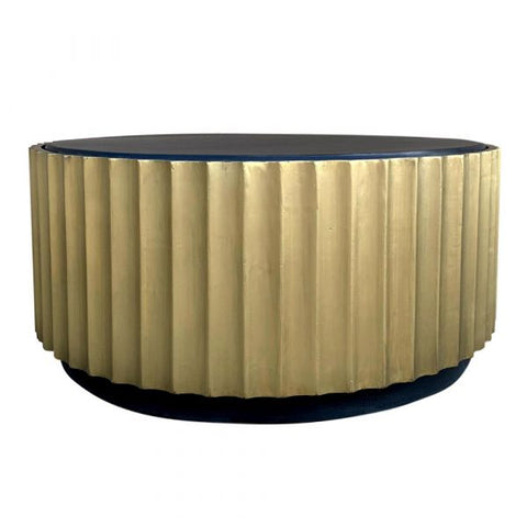 Artemis Coffee Table Black Wash & Gold