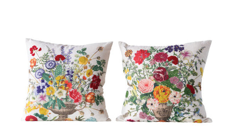 "Bright Floral Pillows 18"" Set of 2"