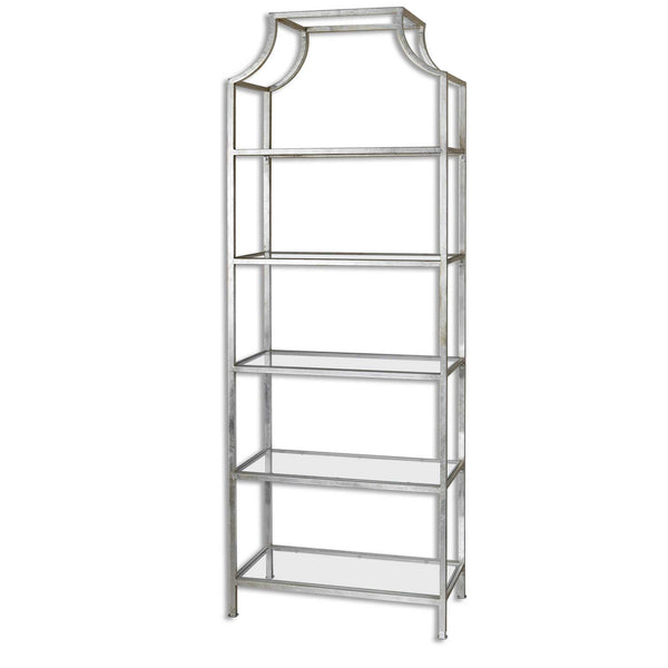 Tall Shelf Silver Leaf