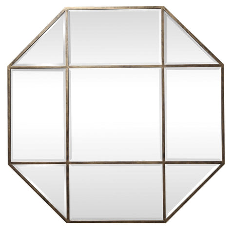 Gold Leaf Octagon MIrror