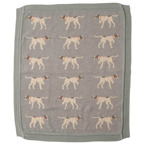 Blue Dog Baby Blanket
