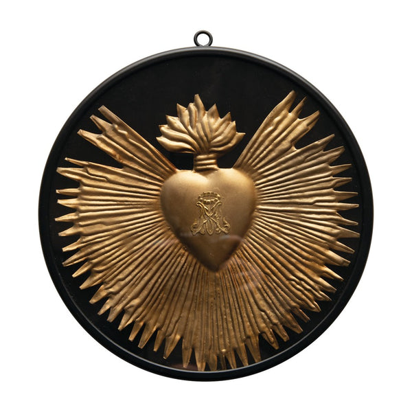 Metal Sacred Heart Wall Decor