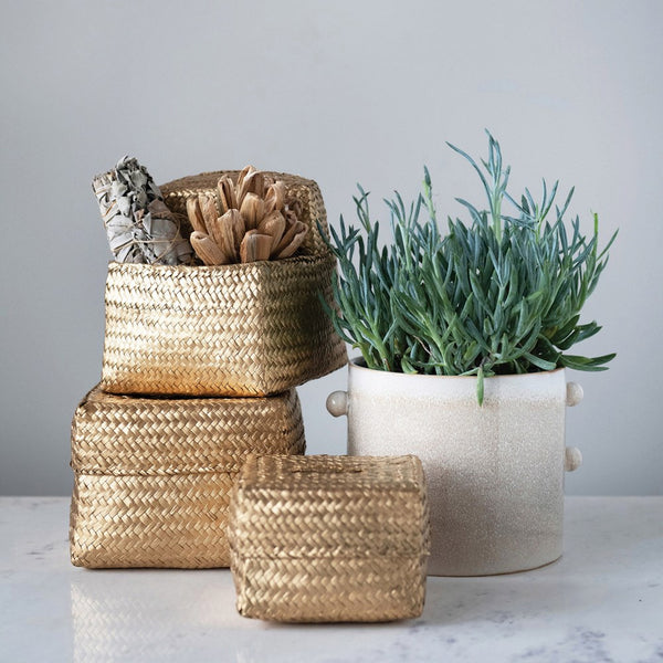 Seagrass Baskets w/ Lids