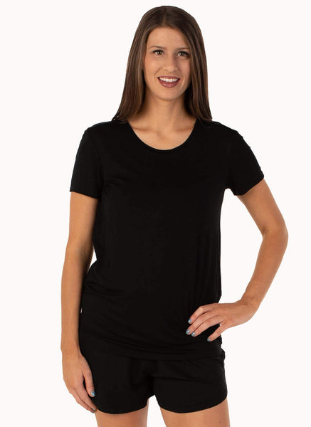 Claire Black Tee Shirt with Bra