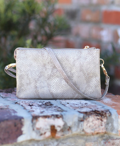 Snake Metallic Gold Crossbody
