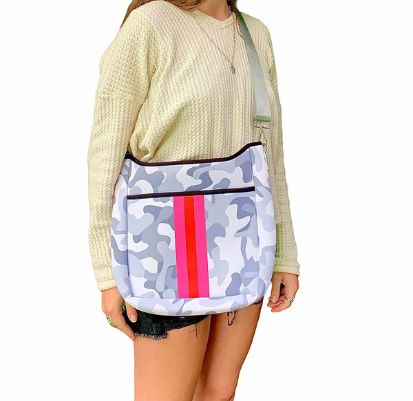 LG White Camo & Peach Cross Body