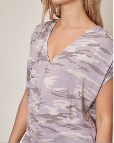 MS Lavender Camo Top