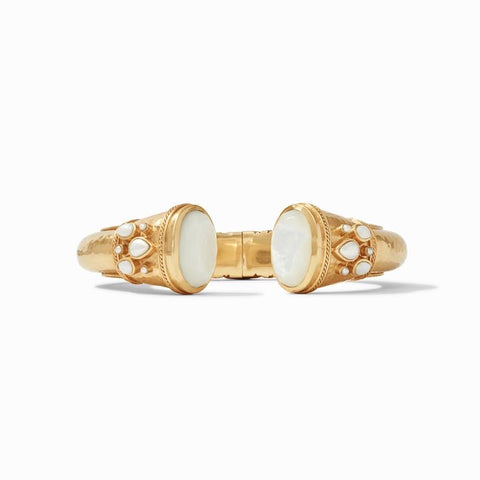 JV Cassis Hinge Cuff- Mother of Pearl