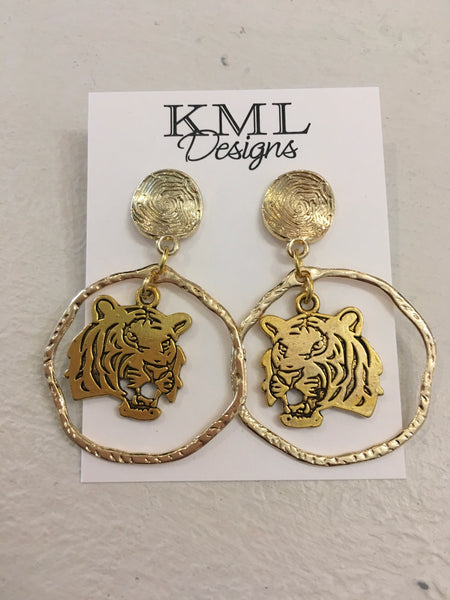 KML Tiger Hanging Earrings