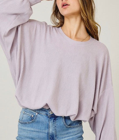 Round Neck Top Lavendar