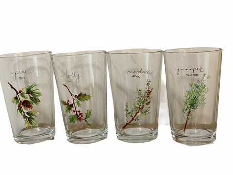 Holiday Berry Juice Glasses