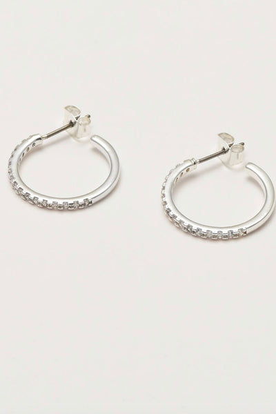 Large White Gold Hoop