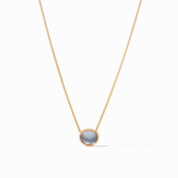 JV Verona Solitaries Necklace- Iridescent Slate Blue