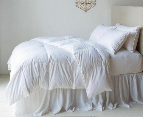Madera Luxe Duvet Cover White
