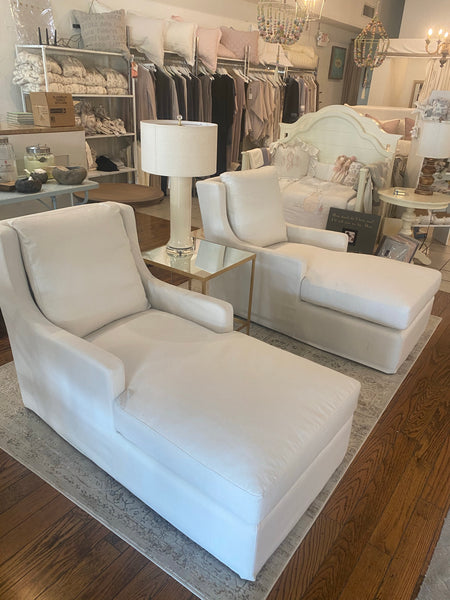 Bret Chaise Lounge in Chalk White