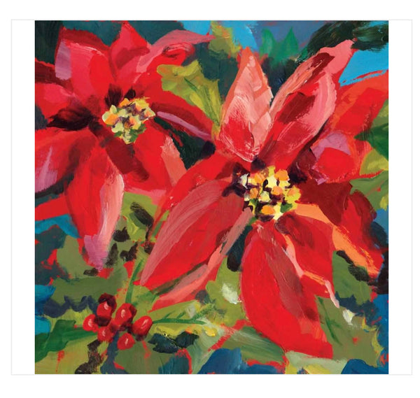 PPD Poinsettia Beverage Napkins