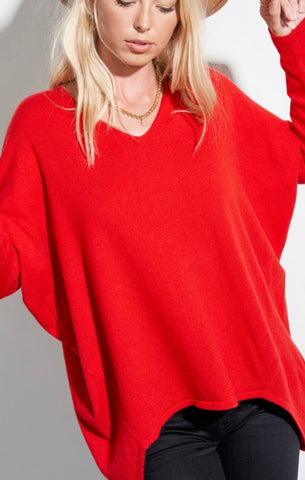 Tunic V Neck Sweater