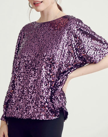 WL Purple Sequin Top