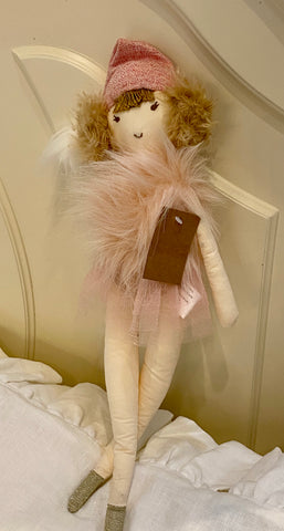 Plush Pink Doll with Hat