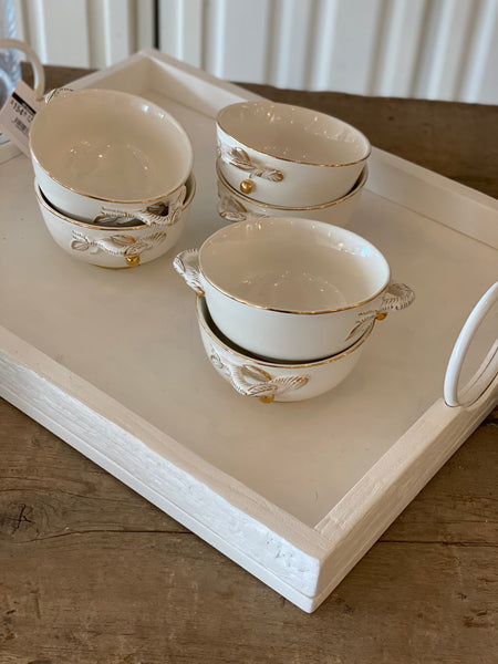 White Wood Tray