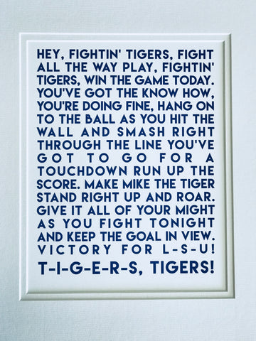 Tiger Fight Song Print
