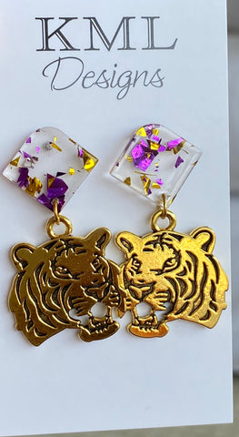 Tiger Dangle Earring