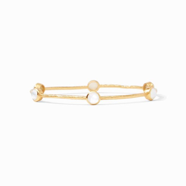 JV Milano Luxe Bangle-Iridescent Clear Crystal