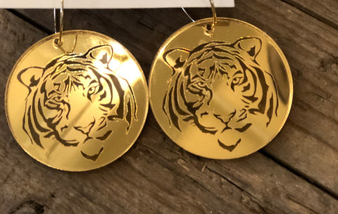 OW Tiger Dangle Earrings