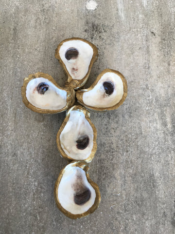 Gold Oyster Cross