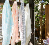 Linen Beach Blanket or Wrap