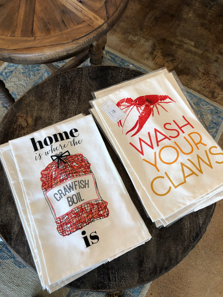 Crawfish tea towel