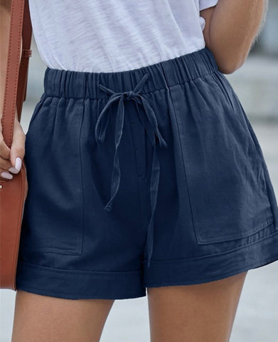 Tencel Summer Shorts Dark Blue