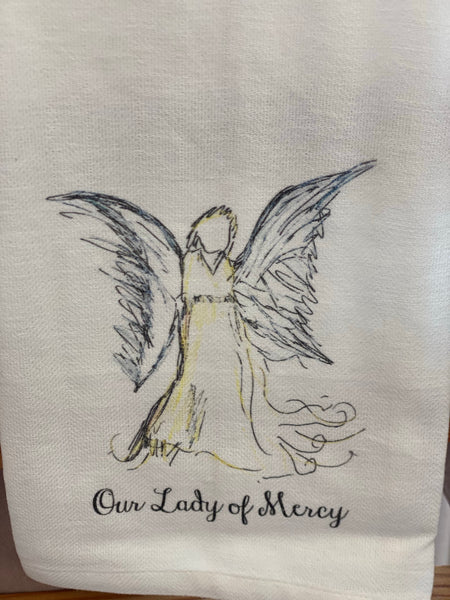 Our Lady of Mercy Tea Towel