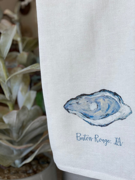 Baton Rouge Oyster Tea Towel