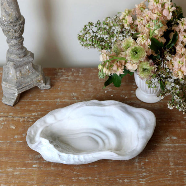Ceramic White Oyster Bowl
