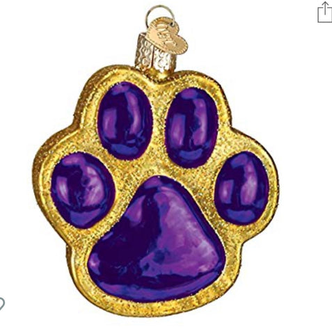 OW Tiger Paw Ornament